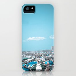 Jersey Shore Blue Beach Art Coastal Seaside Photograph iPhone Case
