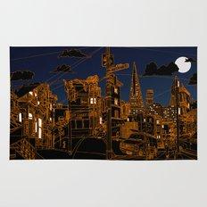 San Francisco! (Night, landscape version) Rug