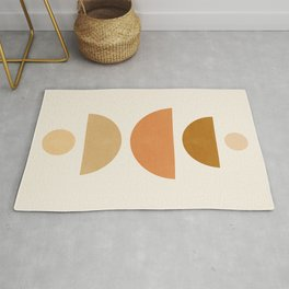 Abstraction_Geometric_Shape_Moon_Sun_Minimalism_001D Rug