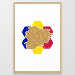 Andorra la Vella principality gift Catalan Framed Art Print