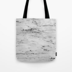 Marble - Black and White Marble Pattern Tote Bag