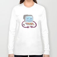 computer Long Sleeve T-shirts featuring Computer guy by Kid Space Originals