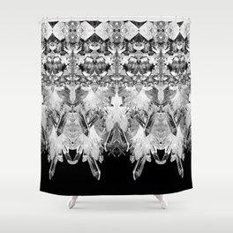 Kryptonite - Black & White Shower Curtain