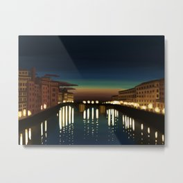 The Arno River Metal Print