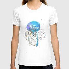 Art Coordinates Heart and Mind T-shirt