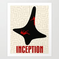 inception Art Prints featuring Inception by beware1984