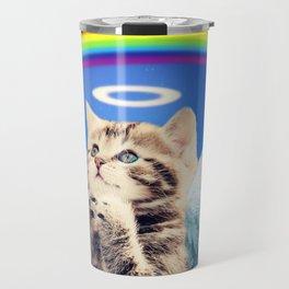 rainbow cat Travel Mug