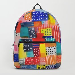 Venice Beach Rainbow Abstract Cityscape Backpack