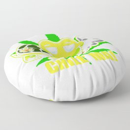 Chill Mal Cannabis Weed Kiffer Floor Pillow