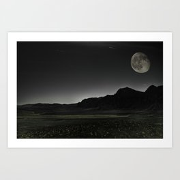 Once upon a Moon Art Print