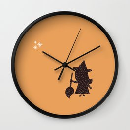 Cute Little Witch Wall Clock