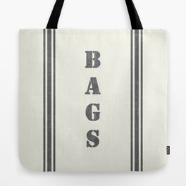 A Bag for your Bags tote French Grainsack Gray on Creme Tote Bag