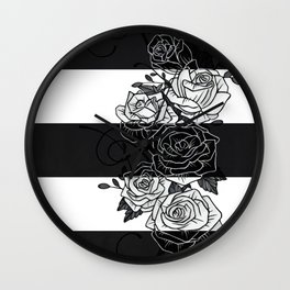 Inverted Roses Wall Clock