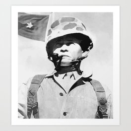 """General Lewis """"Chesty"""" Puller Art Print"""