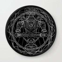 Arjuna & Shiva WnB Wall Clock