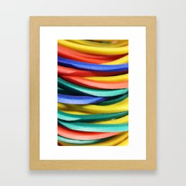 Colored Rubbers Stack Framed Art Print