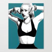 iggy azalea Canvas Prints featuring iggy by iiNTRIGUE