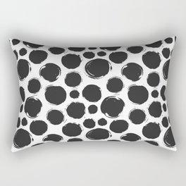 Dry brush black ink dots Rectangular Pillow