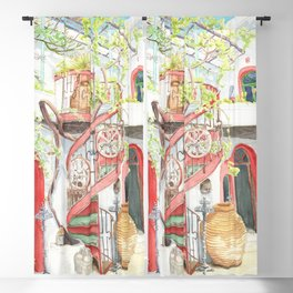Tranquil Courtyard Blackout Curtain
