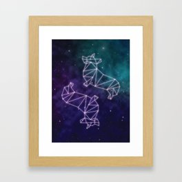 Corgstellation Framed Art Print
