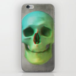 Anaglyph // Skull iPhone Skin