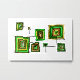 Permanent Line Metal Print