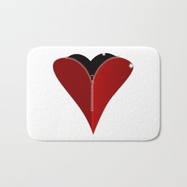 Zipper Heart Bath Mat