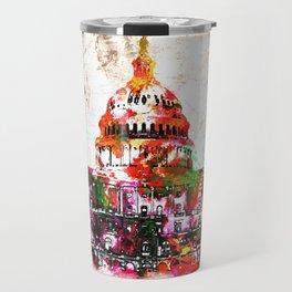 United States Capitol Grunge Travel Mug