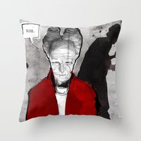 dracula Throw Pillows featuring Dracula by Ed Pires