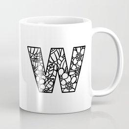 Letter W Coffee Mug