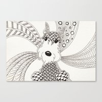 schnauzer Canvas Prints featuring Schnauzer by Noreen Loke