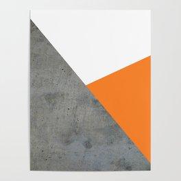 Concrete Tangerine White Poster