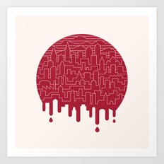 Painted Red Art Print