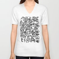 stained glass V-neck T-shirts featuring glass stained by Raennon Hatch