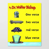 verse Canvas Prints featuring Fringe One Verse, Two Verse, Red Verse, Blue Verse by Passive Fluency