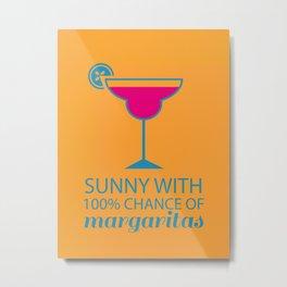 100% Margaritas (Orange) Metal Print