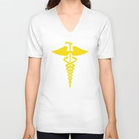 house md V-neck T-shirts featuring House M.D. by dutyfreak