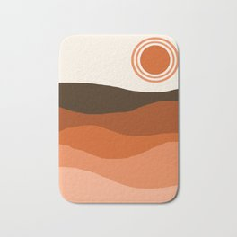 Choice - retro 70s style vibes sunset mountains desert ocean minimalist decor hipster 1970s Bath Mat