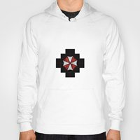 resident evil Hoodies featuring Resident Evil Umbrella Corporation  by DavinciArt