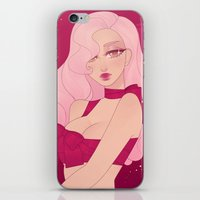 minnie iPhone & iPod Skins featuring Merry Minnie by Petite Passerine