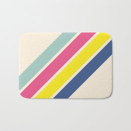 4 Retro Stripes #1 Bath Mat