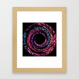 Spinning Polka Dot Circle Framed Art Print