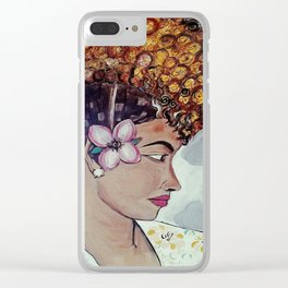 Pisces Queen Clear iPhone Case