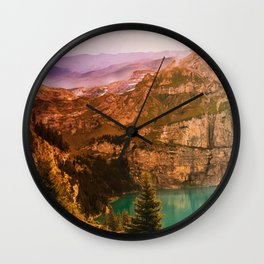 Mountain Valley #society6 #decor #buyart Wall Clock