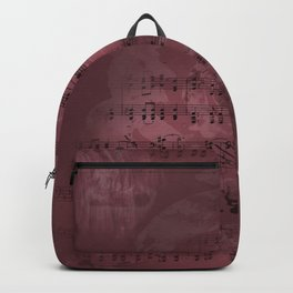 Sheet Music - Mixed Media Partiture #3 Backpack