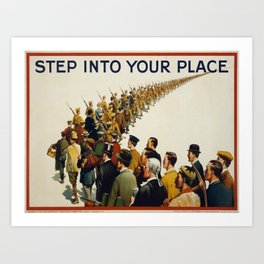 Vintage poster - Step into your place Art Print