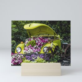 Herbie the Love Bug Garden Mini Art Print