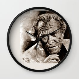 BUKOWSKI - people QUOTE #2 - sepia Wall Clock