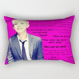 Bangtan Boys Rap Monster Quotes Rectangular Pillow