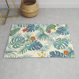 Palm Leaves Pattern 3 Rug